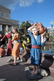 复活节装饰在莫斯科 免版税库存照片