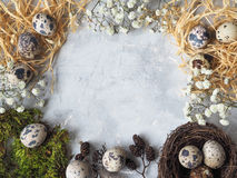 复活节装饰构成 库存照片