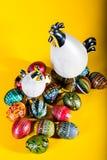 复活节装饰-被绘的鸡蛋 免版税库存图片