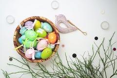 复活节设置了与木鸟7 图库摄影