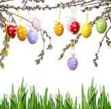 复活节静物画用被绘的鸡蛋 库存图片