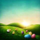 复活节风景 免版税库存图片