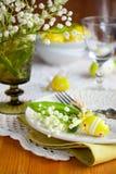 复活节餐位餐具 免版税图库摄影