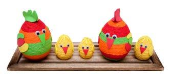 复活节鸡 免版税库存照片