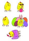 复活节鸡 库存照片
