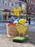 复活节鸡 免版税图库摄影