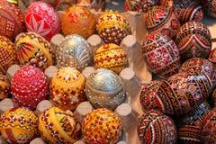 复活节绘了鸡蛋 库存照片