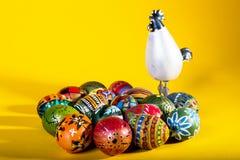 复活节绘了鸡蛋 免版税库存照片