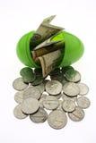 复活节货币 库存照片