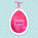 复活节水彩背景和无缝的样式用鸡蛋, rab 免版税图库摄影