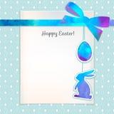 复活节水彩背景和无缝的样式用鸡蛋 免版税库存图片