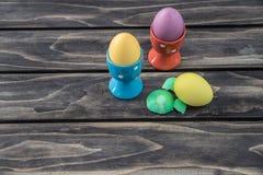 复活节 被绘的鸡蛋 免版税库存图片