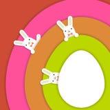 复活节bunnys背景 库存图片