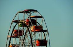 夏令时,溜溜球,日落,乐趣,市场乘坐 库存图片
