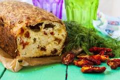 夏南瓜面包用乳酪 免版税库存图片