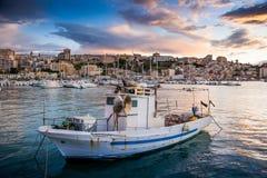 夏卡,意大利- 2009年10月18日:海岸线全景我 免版税库存照片