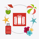夏天、假期和旅行 免版税库存图片