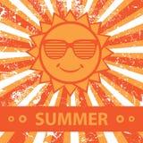 夏天。逗人喜爱的例证。 免版税库存照片