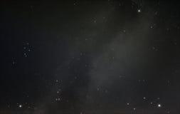 夏天三角和我们的星系银河 免版税库存图片