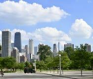 夏天下午在林肯公园 库存照片