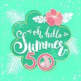 夏天与热带棕榈leaves_5的销售背景 库存图片