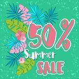 夏天与热带棕榈leaves_11的销售背景 库存图片