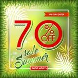 夏天与热带棕榈leaves_19的销售背景 库存图片