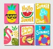 夏天主题的海报 图库摄影