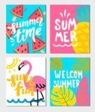 夏天主题的海报 免版税库存图片
