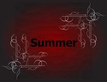 夏天书法设计的元素 葡萄酒装饰品 免版税库存照片