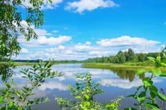 夏天五颜六色的风景 免版税库存照片