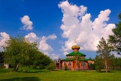 夏天伏尔加河庄园  库存图片