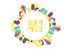 夏天传染媒介横幅设计 库存图片
