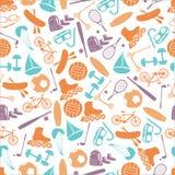夏天体育和设备颜色样式eps10 免版税库存照片