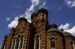 夏天俄罗斯的视图教会 库存图片