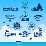 夏天元素标签 库存图片