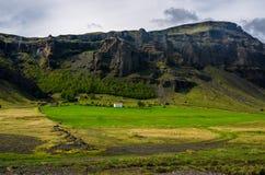 夏天冰岛风景 免版税库存照片