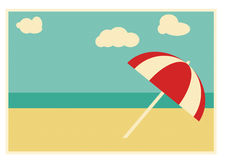 夏天减速火箭的看板卡 免版税库存图片