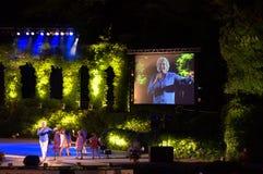 夏天剧院音乐会瓦尔纳,保加利亚 库存照片