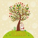 夏天卡片。 库存照片