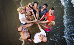 夏天友谊统一性团结享受概念 免版税图库摄影