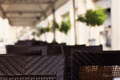 夏天吃饭的客人 图库摄影
