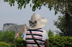夏天和TRAVLER在LANGELINE哥本哈根 免版税库存照片