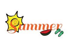 夏天商标标题文本 免版税库存照片
