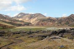 夏天在冰岛 免版税库存照片
