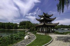 夏天在北京陶然亭公园 免版税图库摄影
