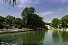 夏天在北京陶然亭公园 免版税库存图片