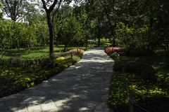 夏天在北京龙潭公园 库存照片