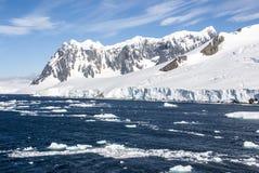 夏天在南极洲 免版税库存照片