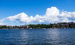 夏天在斯德哥尔摩kungsholmen 免版税库存图片